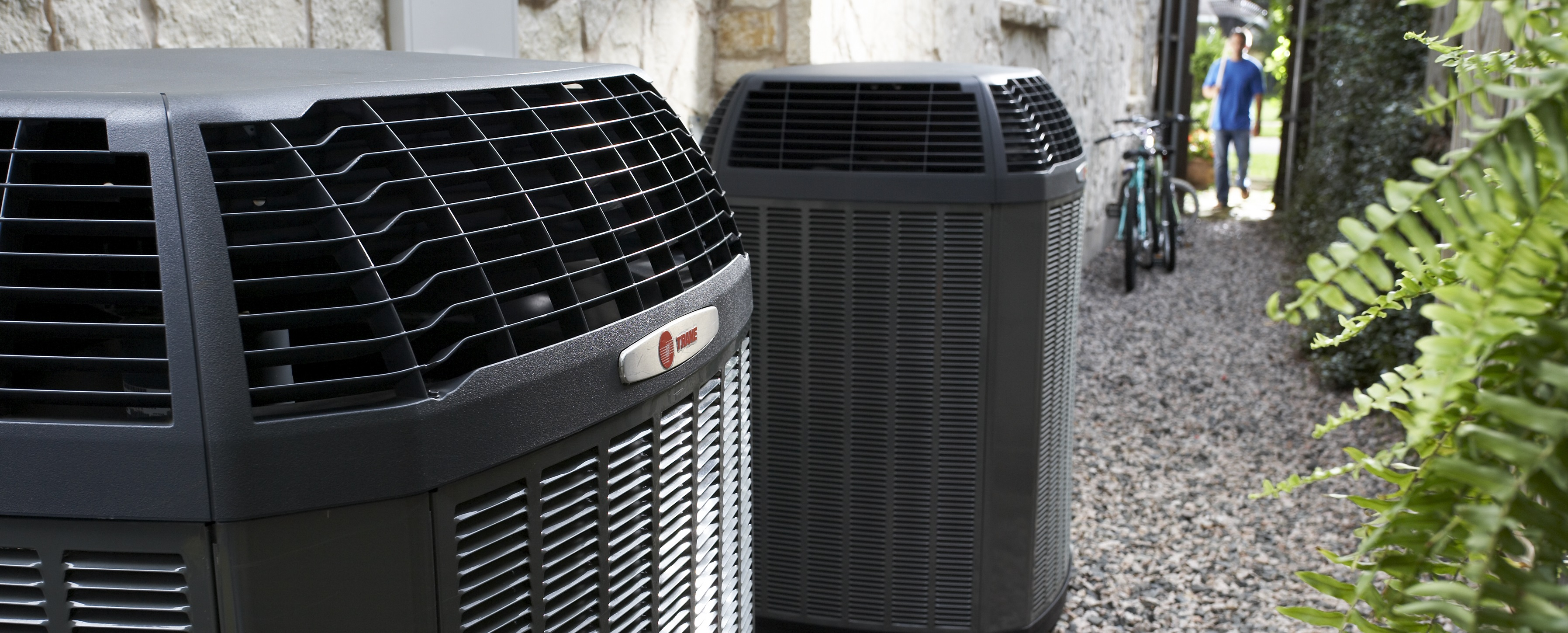 Trane Air Conditioners on Side of House Narrow